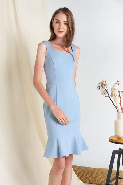 AWE Dresses LINEA POWDER BLUE MERMAID PONTE DRESS