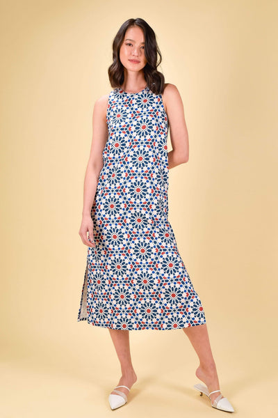 AWE Dresses MARRAKESH SLIT MIDI IN NAVY