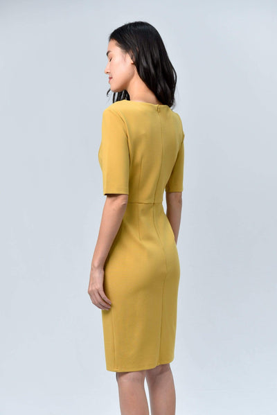 AWE Dresses MORGAN HONEY SLEEVED PENCIL DRESS