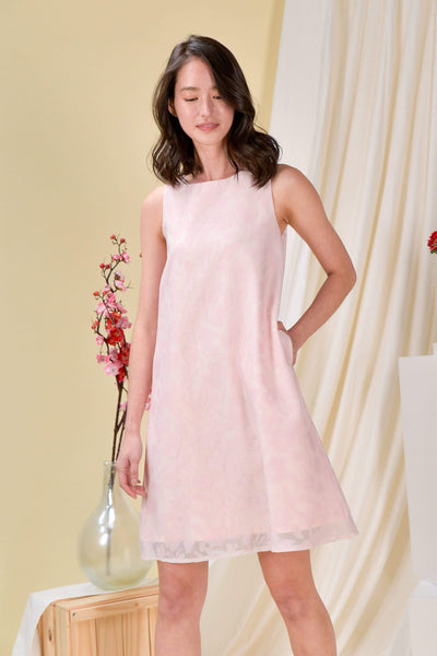 AWE Dresses ORGANZA TRAPEZE DRESS IN PINK