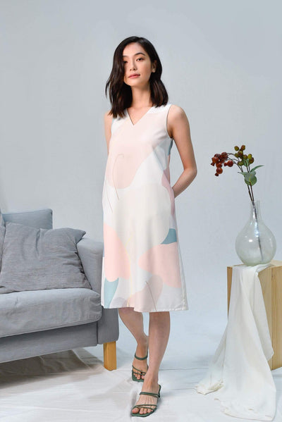 AWE Dresses PADDLE POP A-LINE V-NECK DRESS