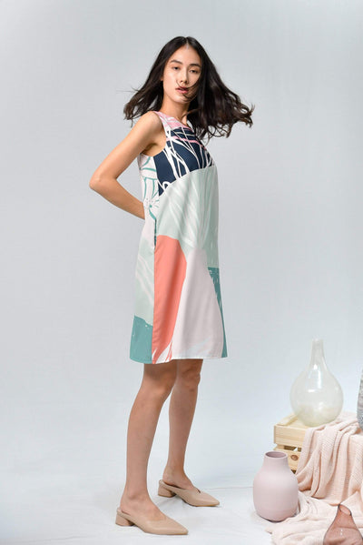 AWE Dresses PAINTER SHIFT DRESS IN AMAZON