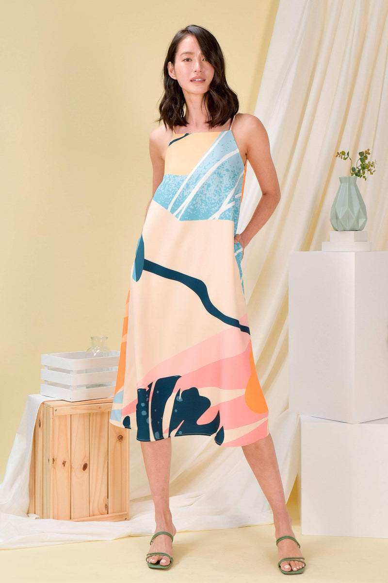 AWE Dresses PEARADISE TENT DRESS IN CITRUS