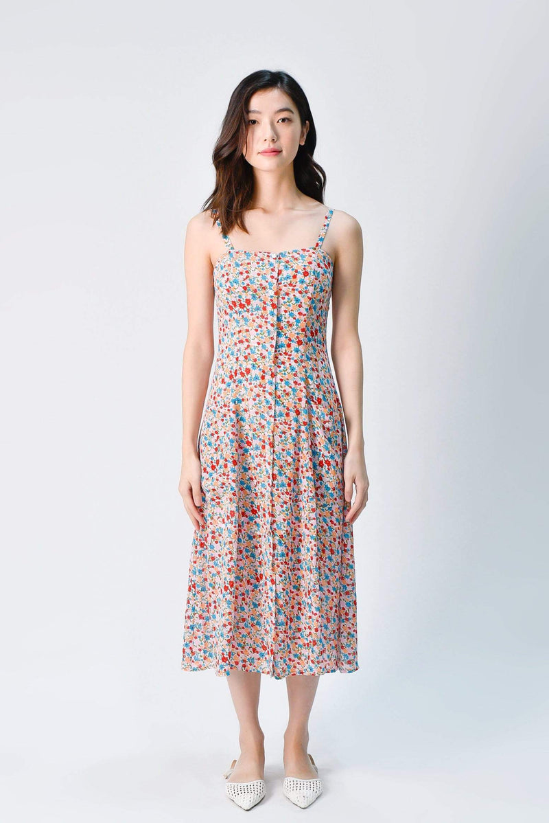 PENNIE THIN-STRAP POCKET DRESS IN SUMMER FLORAL