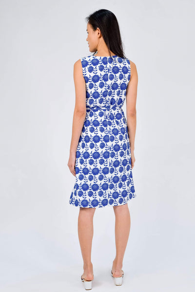 AWE Dresses PEONY BLUE DRAPE DRESS