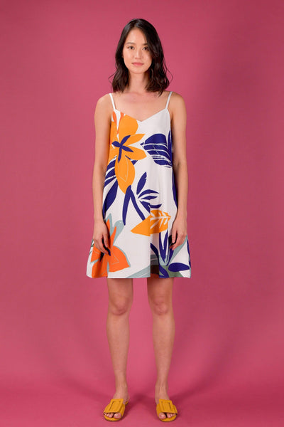 AWE Dresses RAINFOREST SPAG SWING DRESS IN BEGONIA