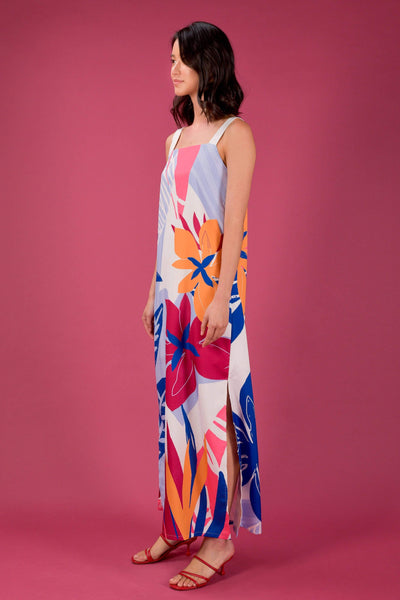 AWE Dresses RAINFOREST TWO-WAY THICK STRAP MAXI IN RAFFLESIA