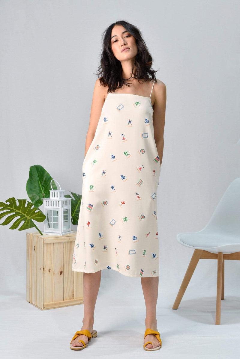*RESTOCKED* MAHJONG TENT DRESS IN CREAM