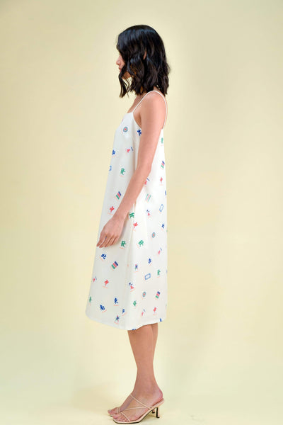 AWE Dresses *RESTOCKED* MAHJONG TENT DRESS IN CREAM