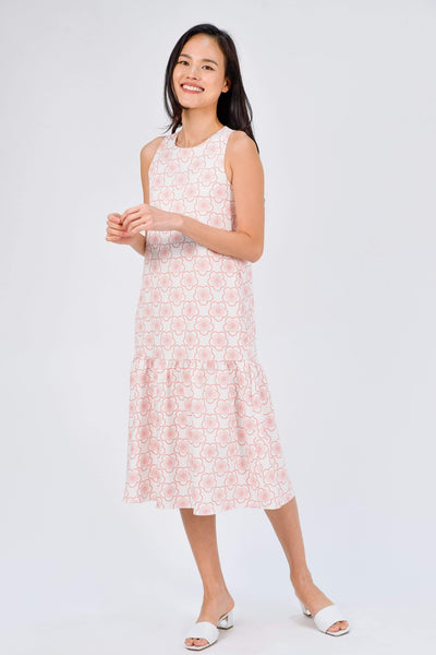 AWE Dresses SAKURA CORAL DROPWAIST DRESS