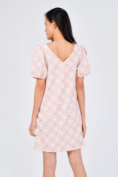 AWE Dresses SAKURA CORAL TWO-WAY SLEEVED DRESS