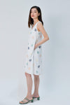 AWE Dresses SERA WHITE LEAF-PRINT TWO-WAY A-LINE DRESS
