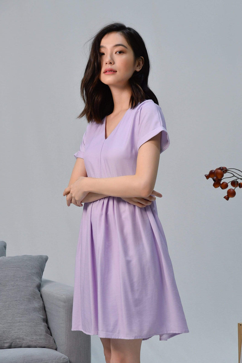SHIRLEY LILAC SLEEVED BABYDOLL DRESS