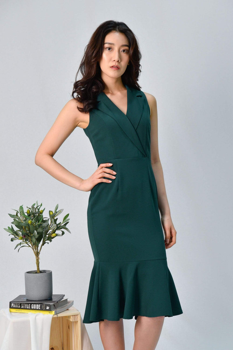 SIENA FOREST TUXEDO MERMAID DRESS