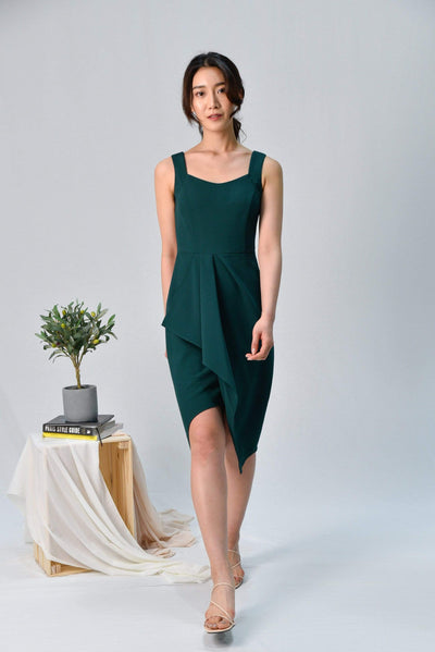 AWE Dresses SIGNE FOREST WATERFALL DRESS