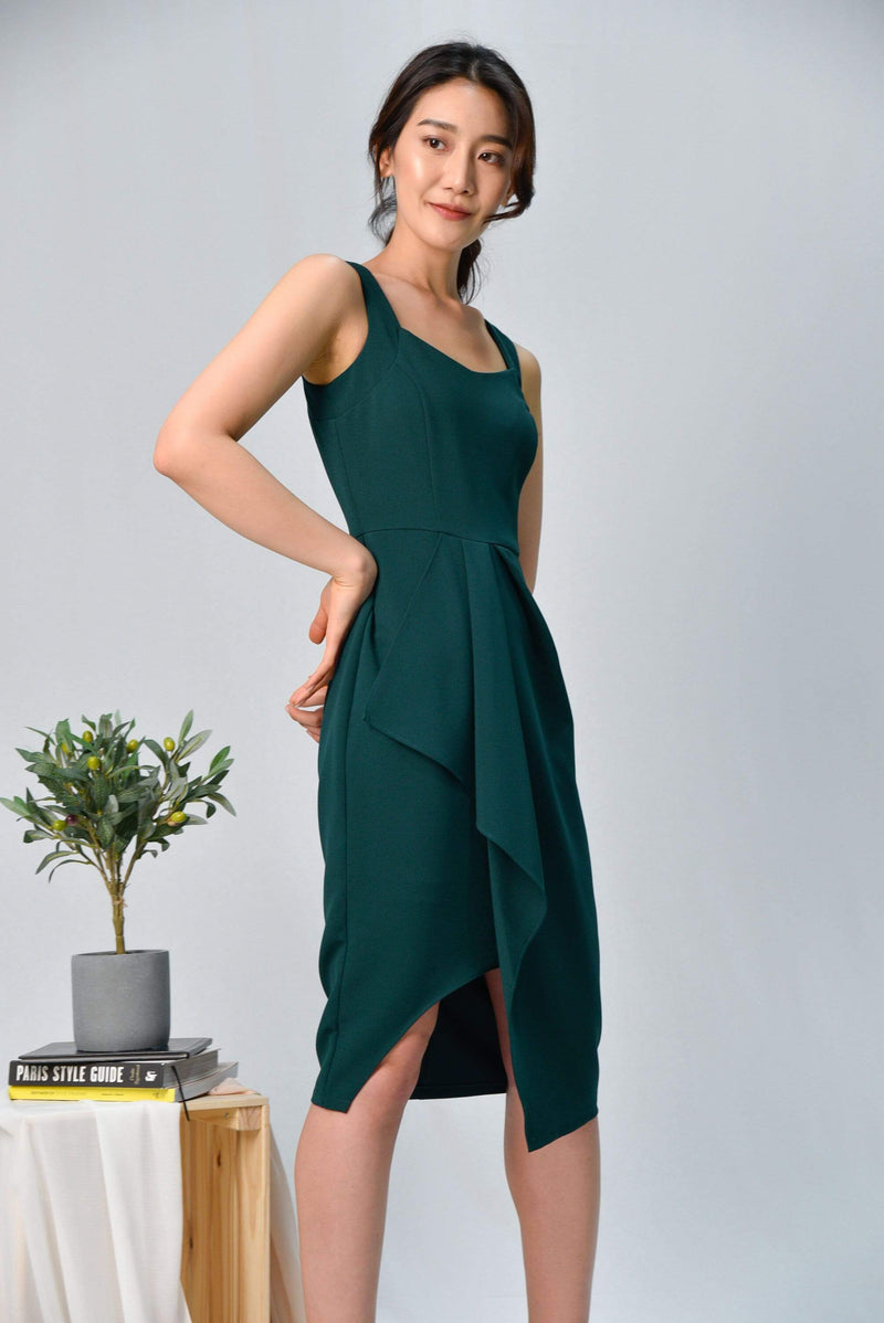 SIGNE FOREST WATERFALL DRESS