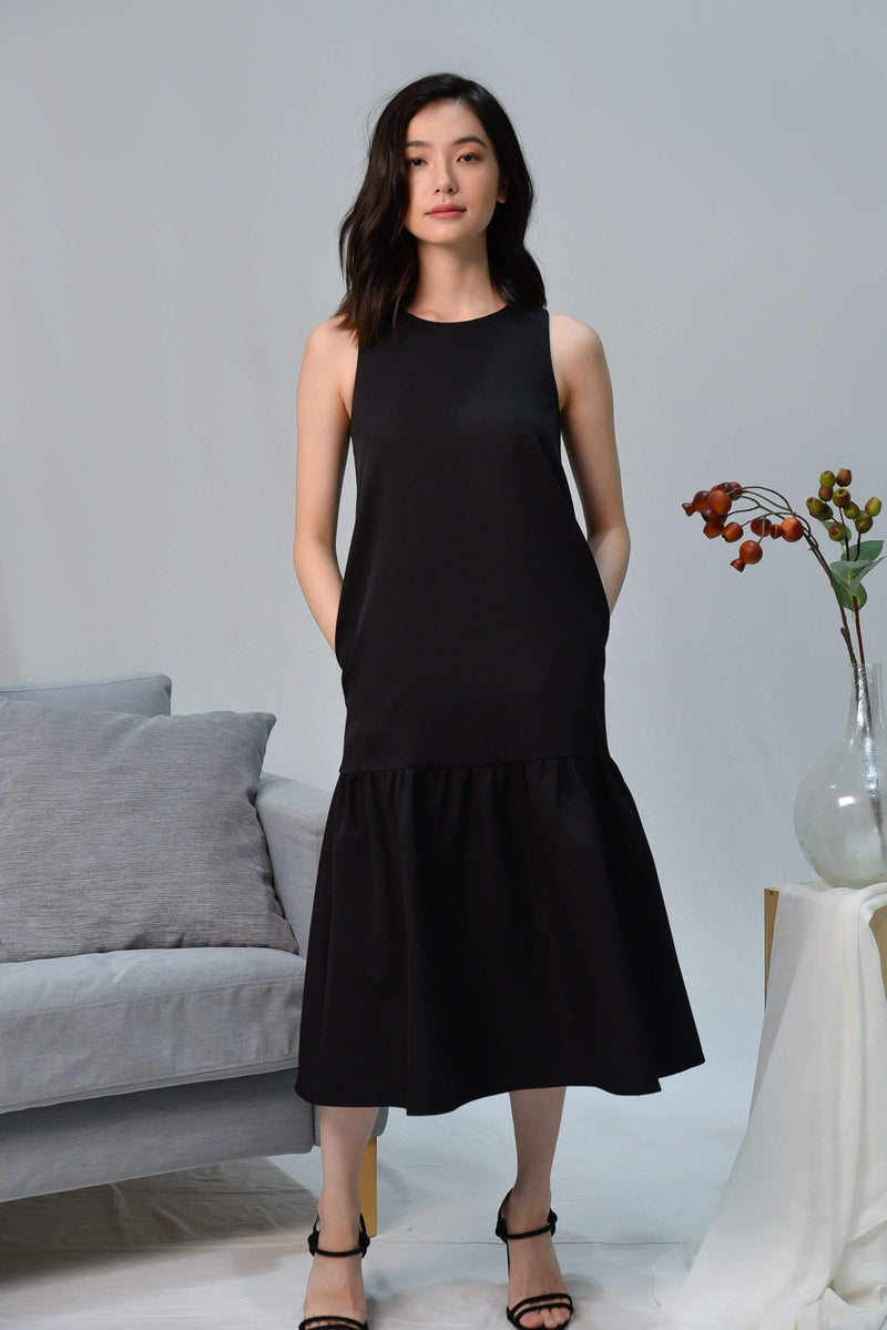 SONIA BLACK CLASSIC DROPWAIST DRESS