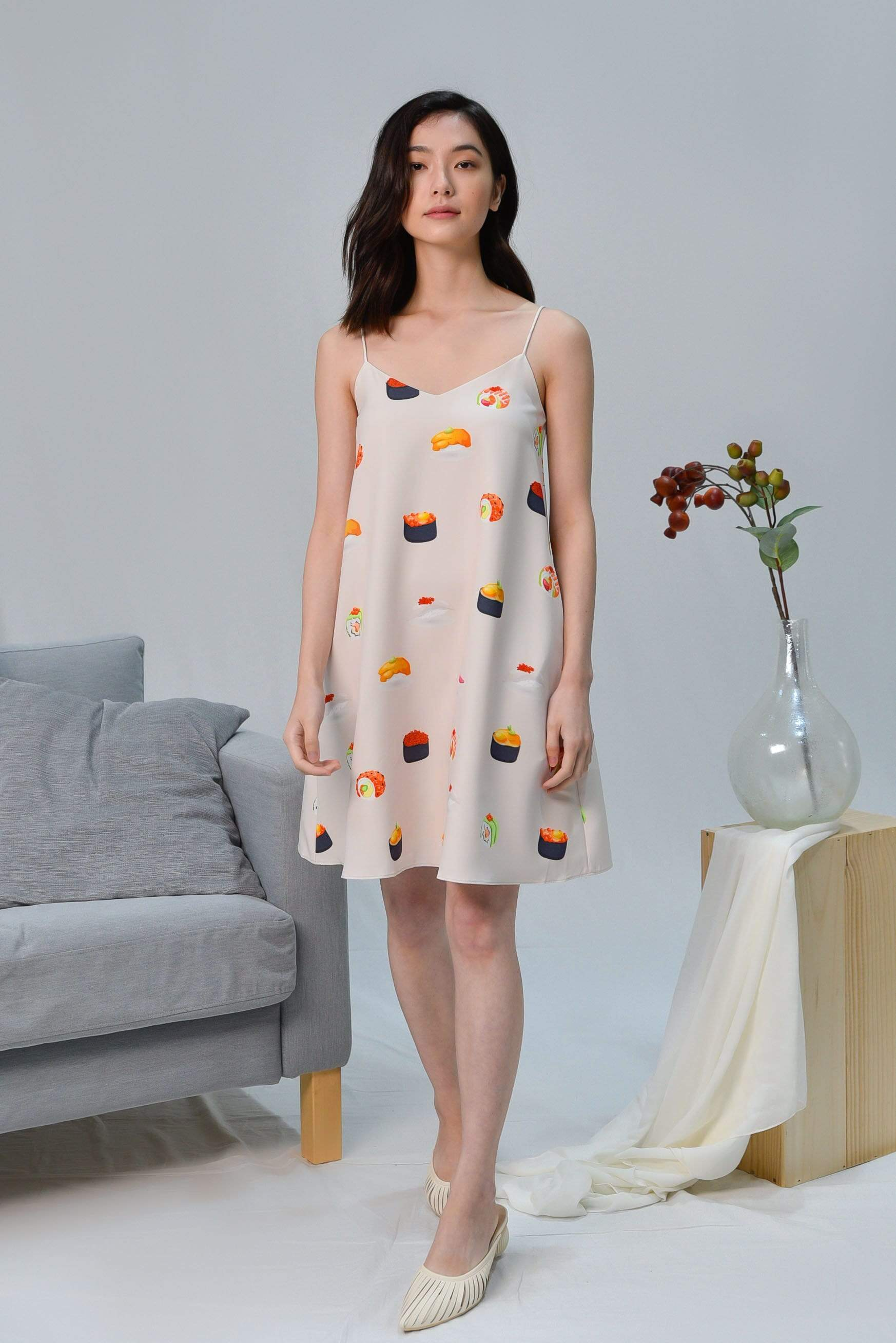 SUSHI TWO-WAY SLIP DRESS