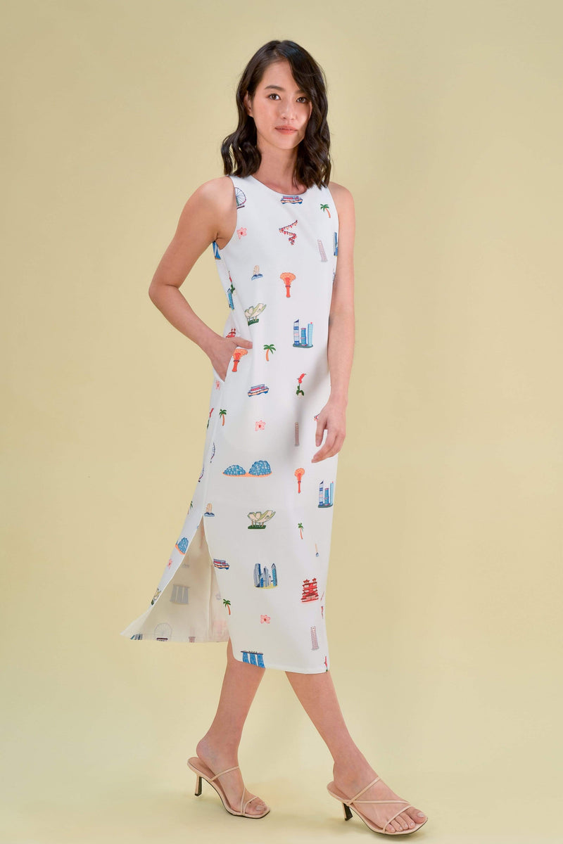 AWE Dresses THIS IS HOME SIDE SLIT MIDI