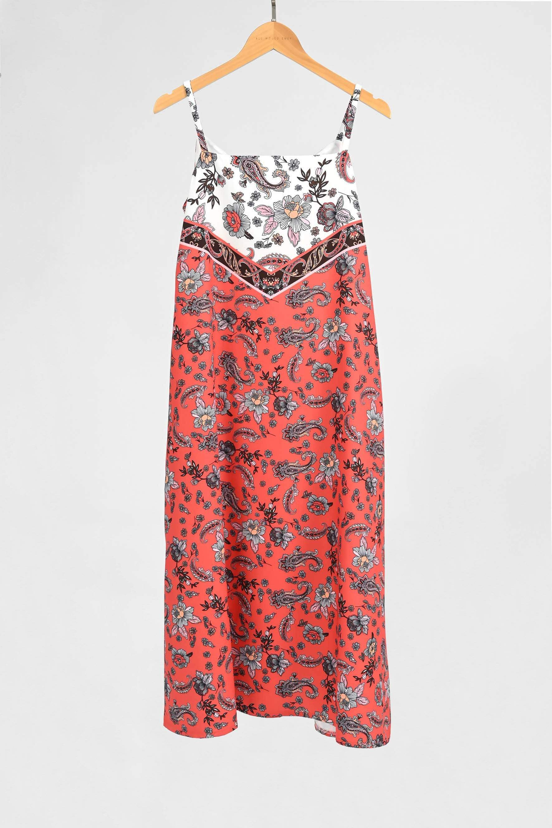 TORI CORAL PAISLEY TWO-WAY TENT DRESS