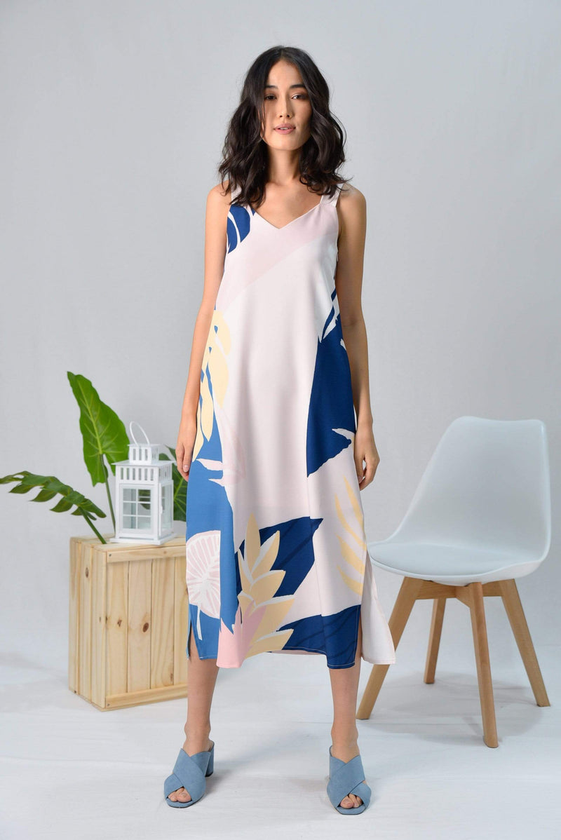 AWE Dresses TROPICAL TWO-WAY MIDI DRESS IN BORA BORA