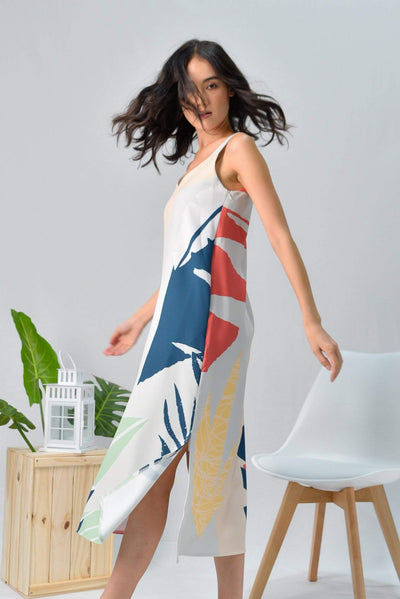 AWE Dresses TROPICAL TWO-WAY MIDI DRESS IN MALDIVES