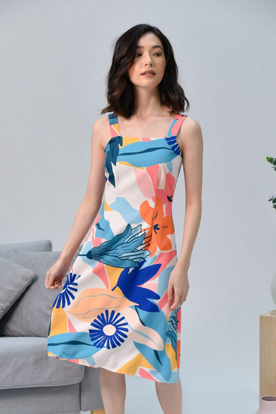 AWE Dresses WILDFLOWER FIT AND FLARE DRESS IN FIREWOOD