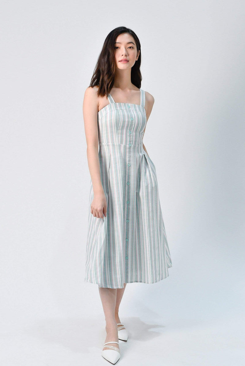 YEONA MINT STRIPE DRESS