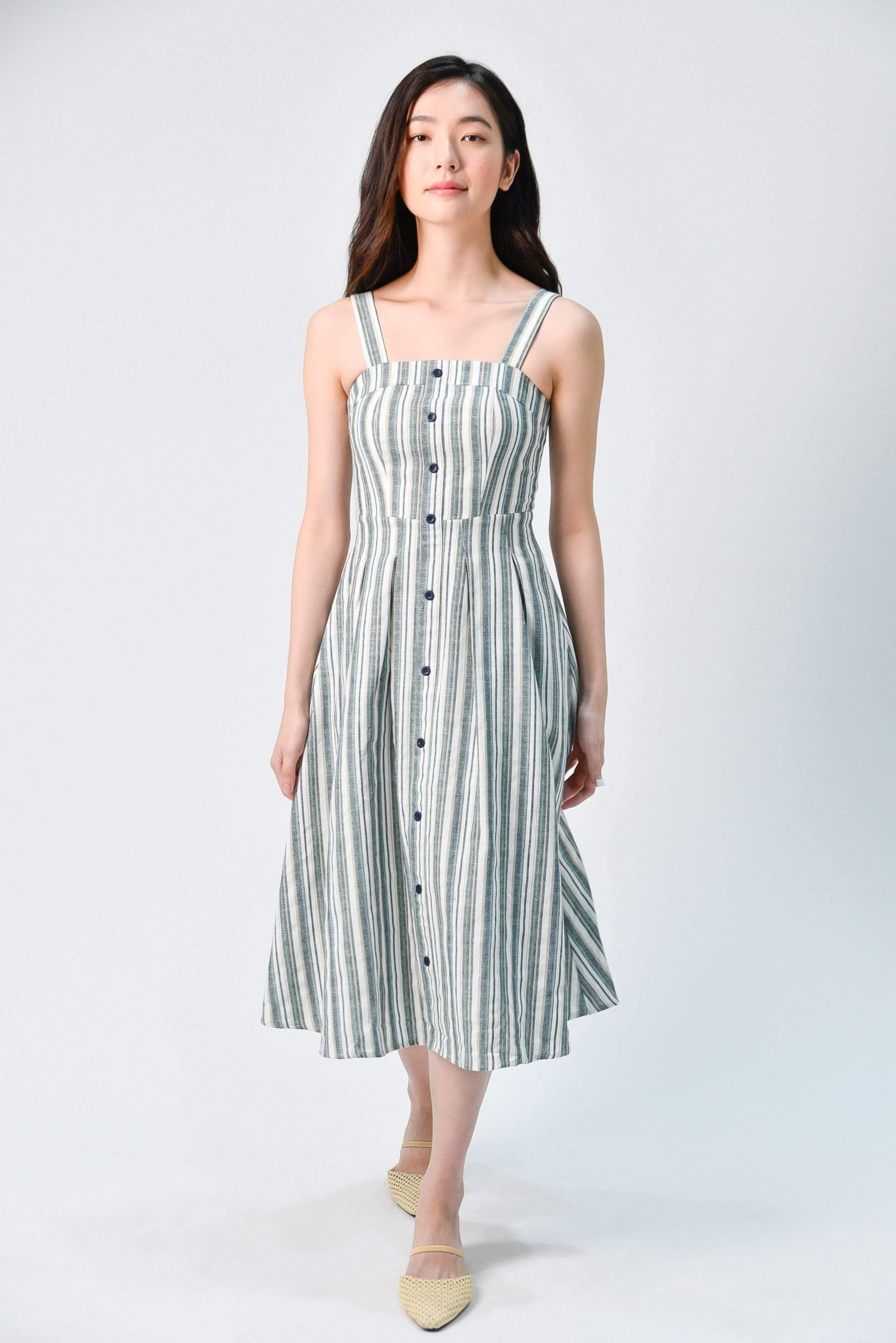 YEONA NAVY STRIPE DRESS