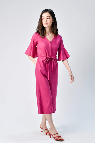 AWE One Piece BOA ROSE LINEN JUMPSUIT