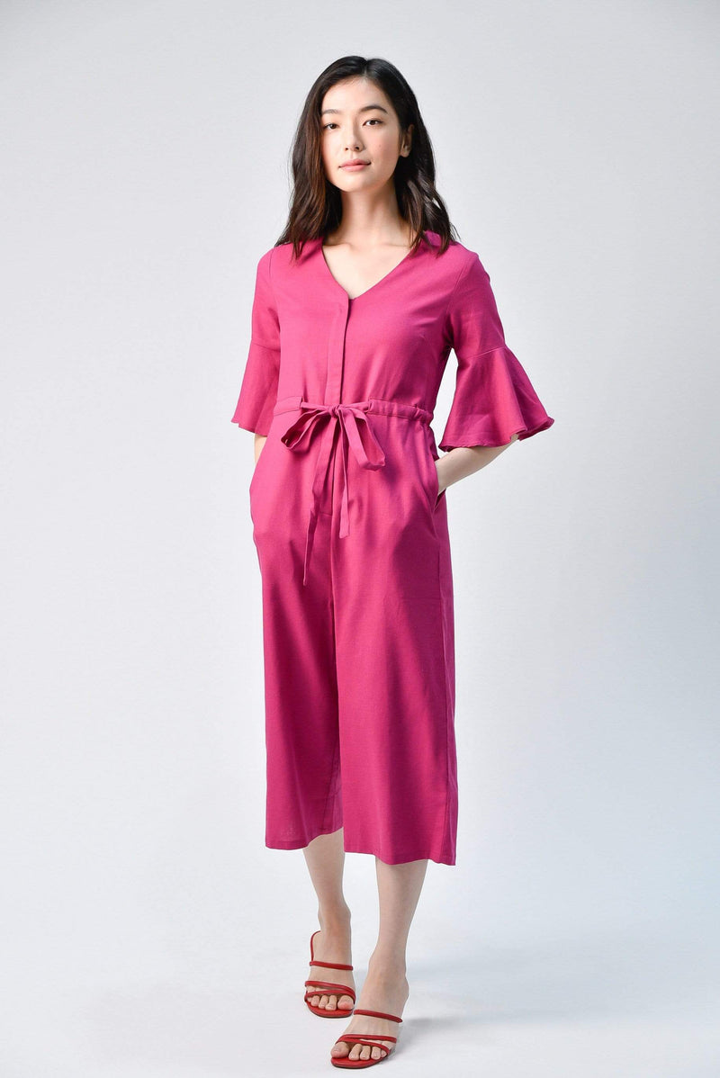 BOA ROSE LINEN JUMPSUIT
