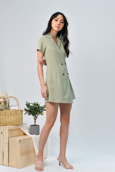AWE One Piece VANESSA SAGE DOUBLE-BREASTED ROMPER