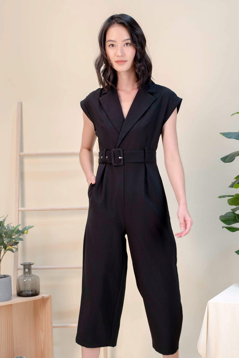 AWE One Piece VICKY TUXEDO JUMPSUIT IN BLACK