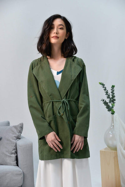 AWE Outerwear EVERLY ARMY GREEN DRAWSTRING PARKA