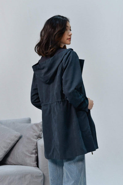 AWE Outerwear EVERLY NAVY DRAWSTRING PARKA
