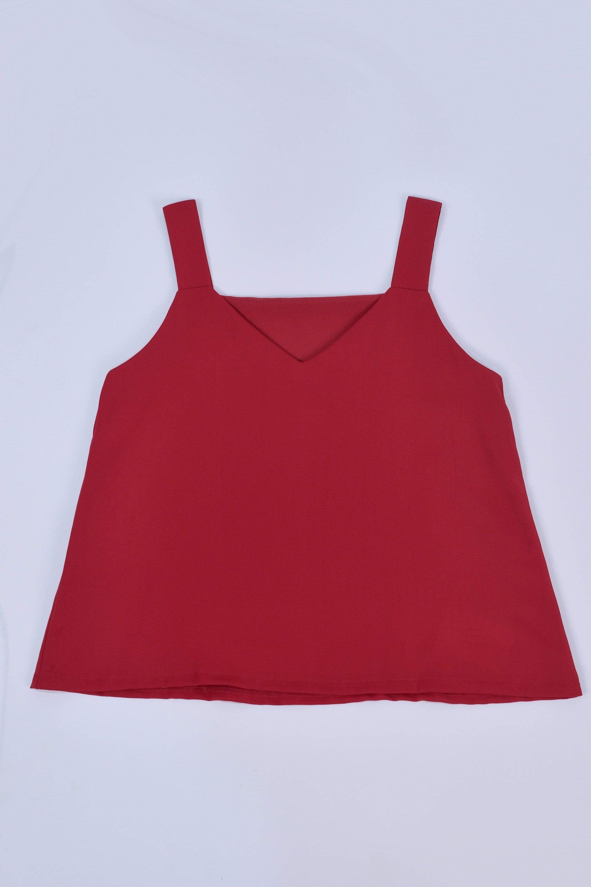 ALYA TWO-WAY THICK STRAP TOP IN CHERRY