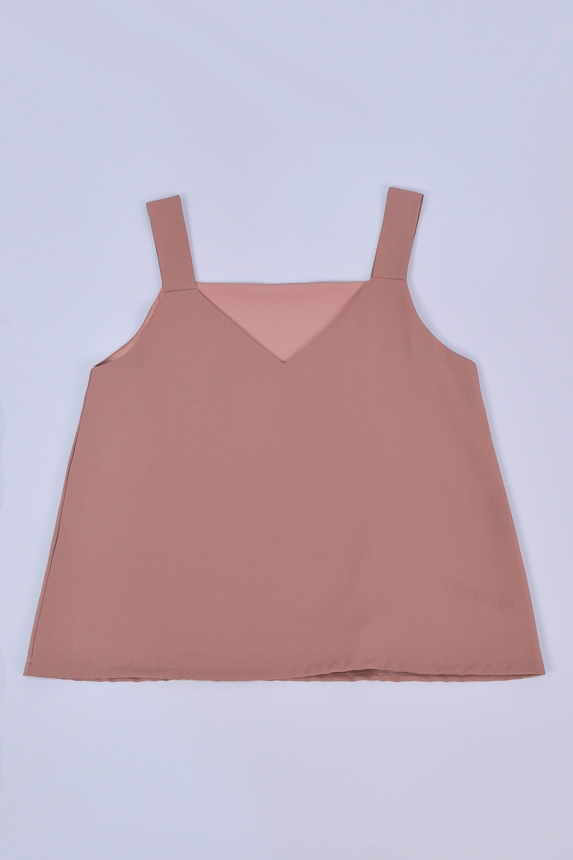 ALYA TWO-WAY THICK STRAP TOP IN CHESTNUT
