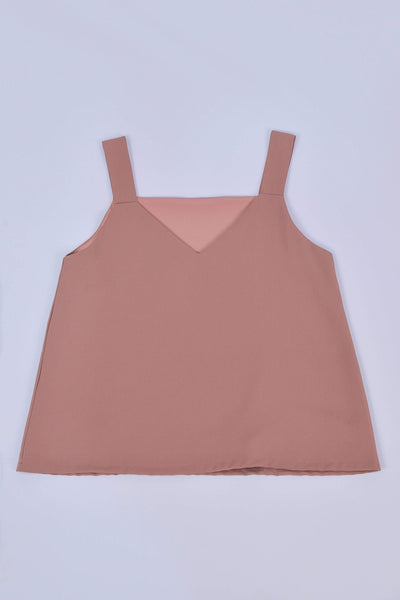 AWE Tops ALYA TWO-WAY THICK STRAP TOP IN CHESTNUT