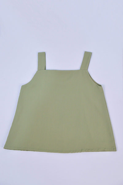 AWE Tops ALYA TWO-WAY THICK STRAP TOP IN MATCHA