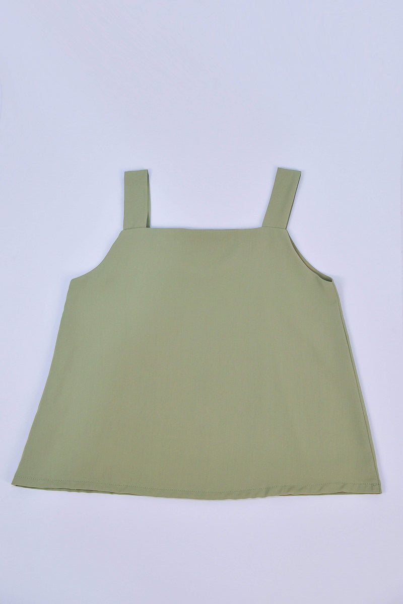 ALYA TWO-WAY THICK STRAP TOP IN MATCHA