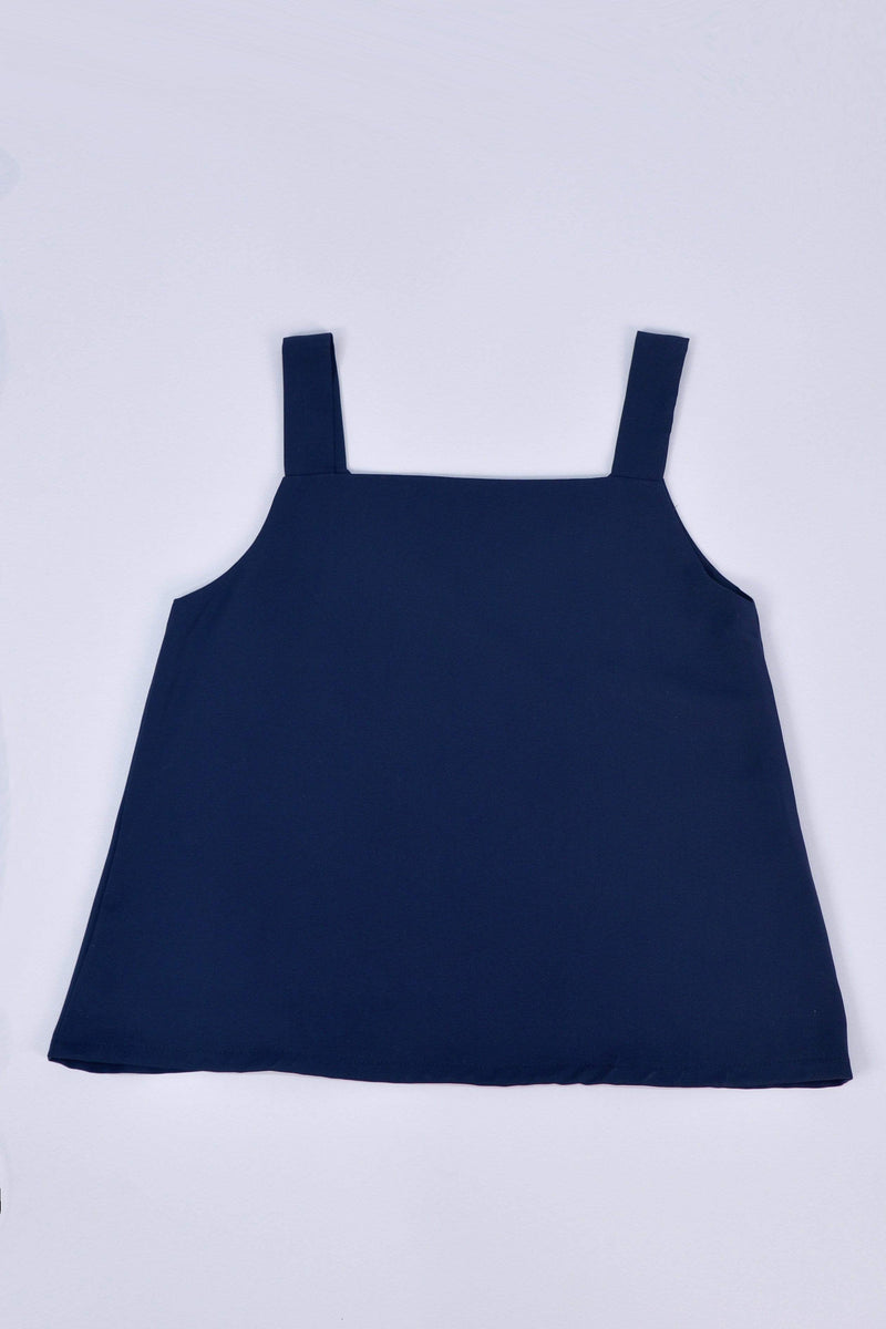 ALYA TWO-WAY THICK STRAP TOP IN NAVY