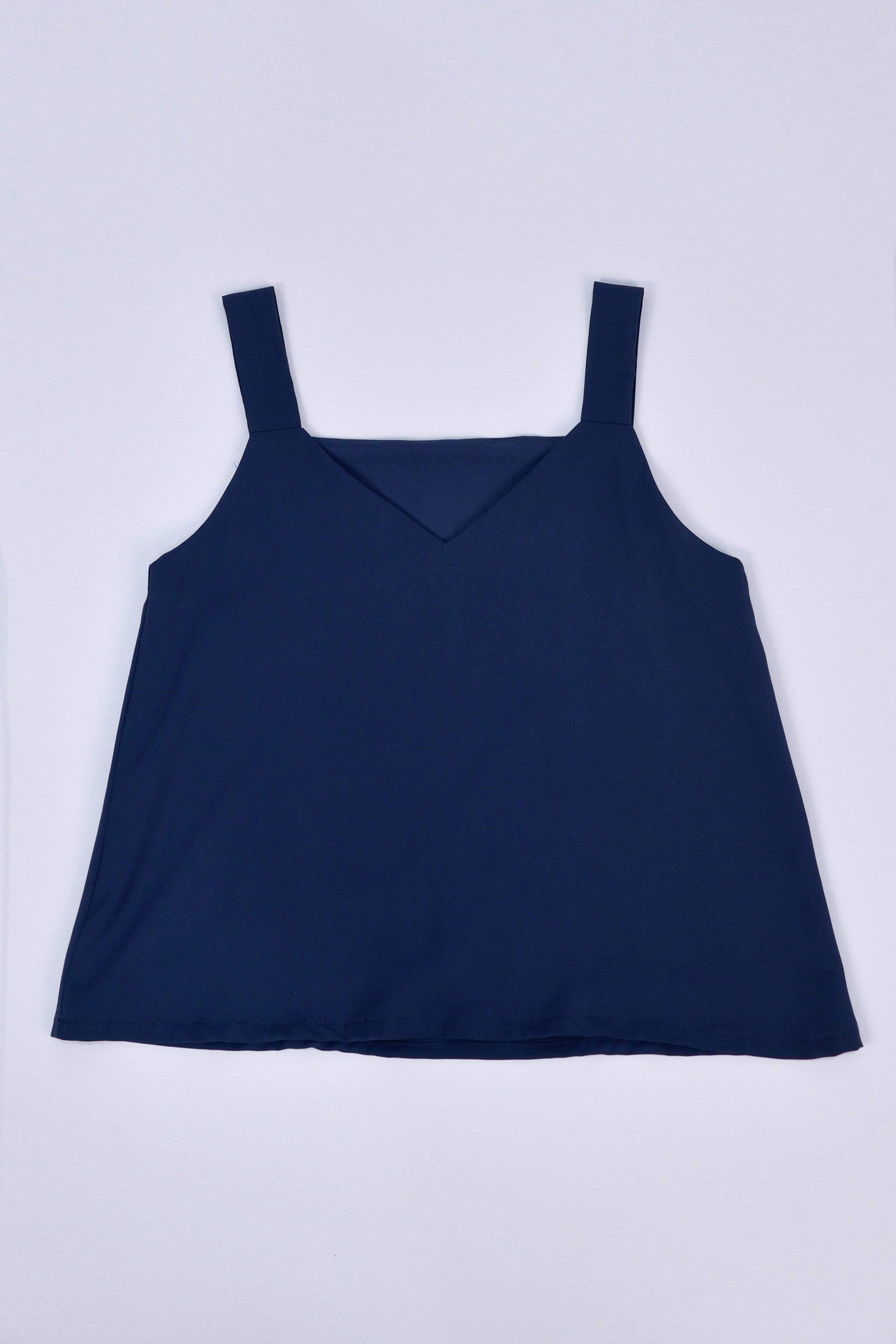 AWE Tops ALYA TWO-WAY THICK STRAP TOP IN NAVY