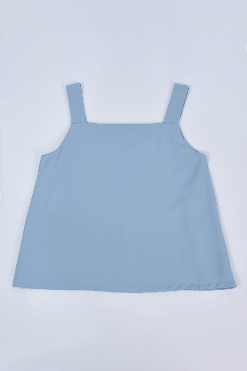 ALYA TWO-WAY THICK STRAP TOP IN POWDER BLUE