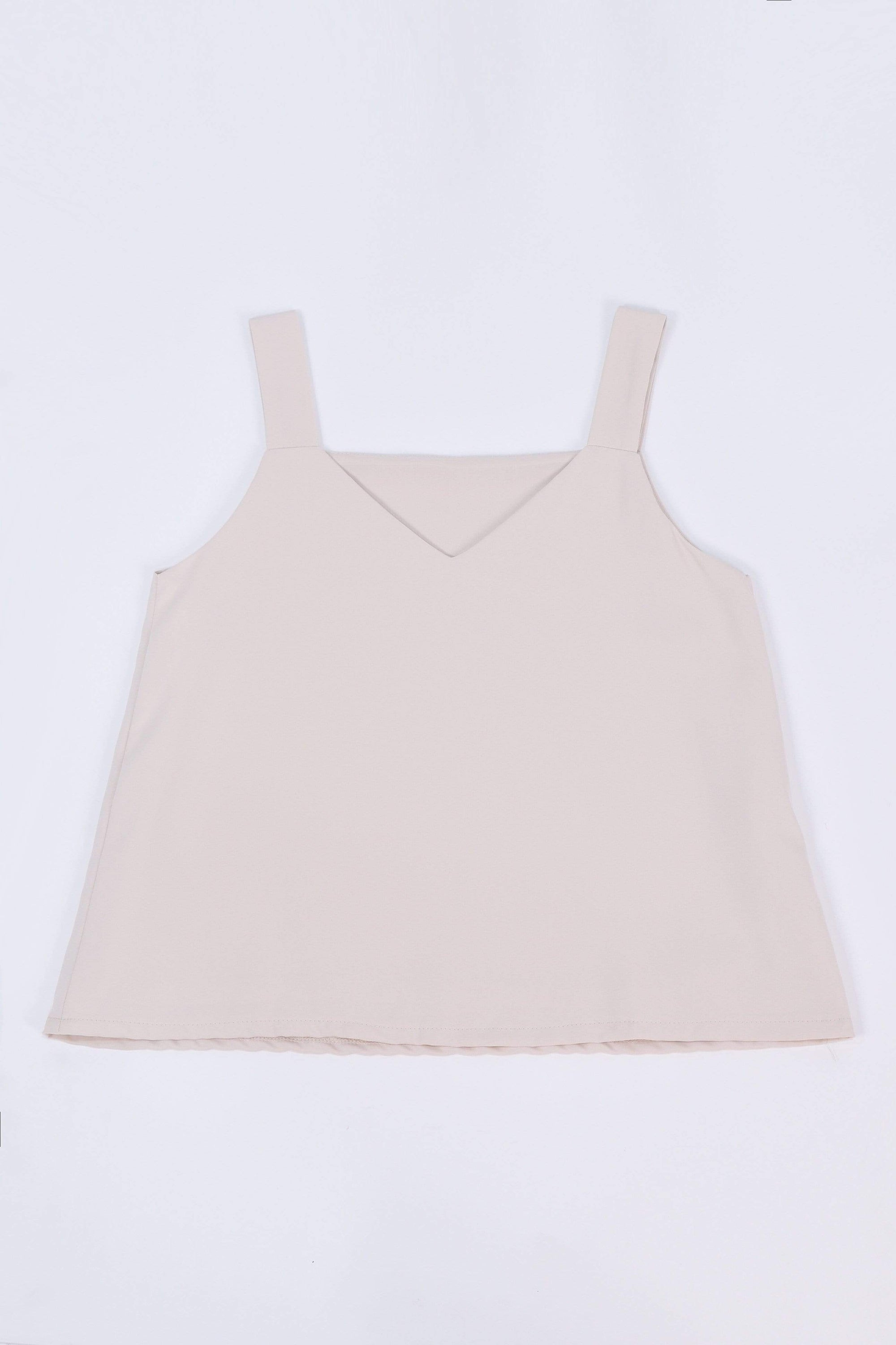 ALYA TWO-WAY THICK STRAP TOP IN SAND