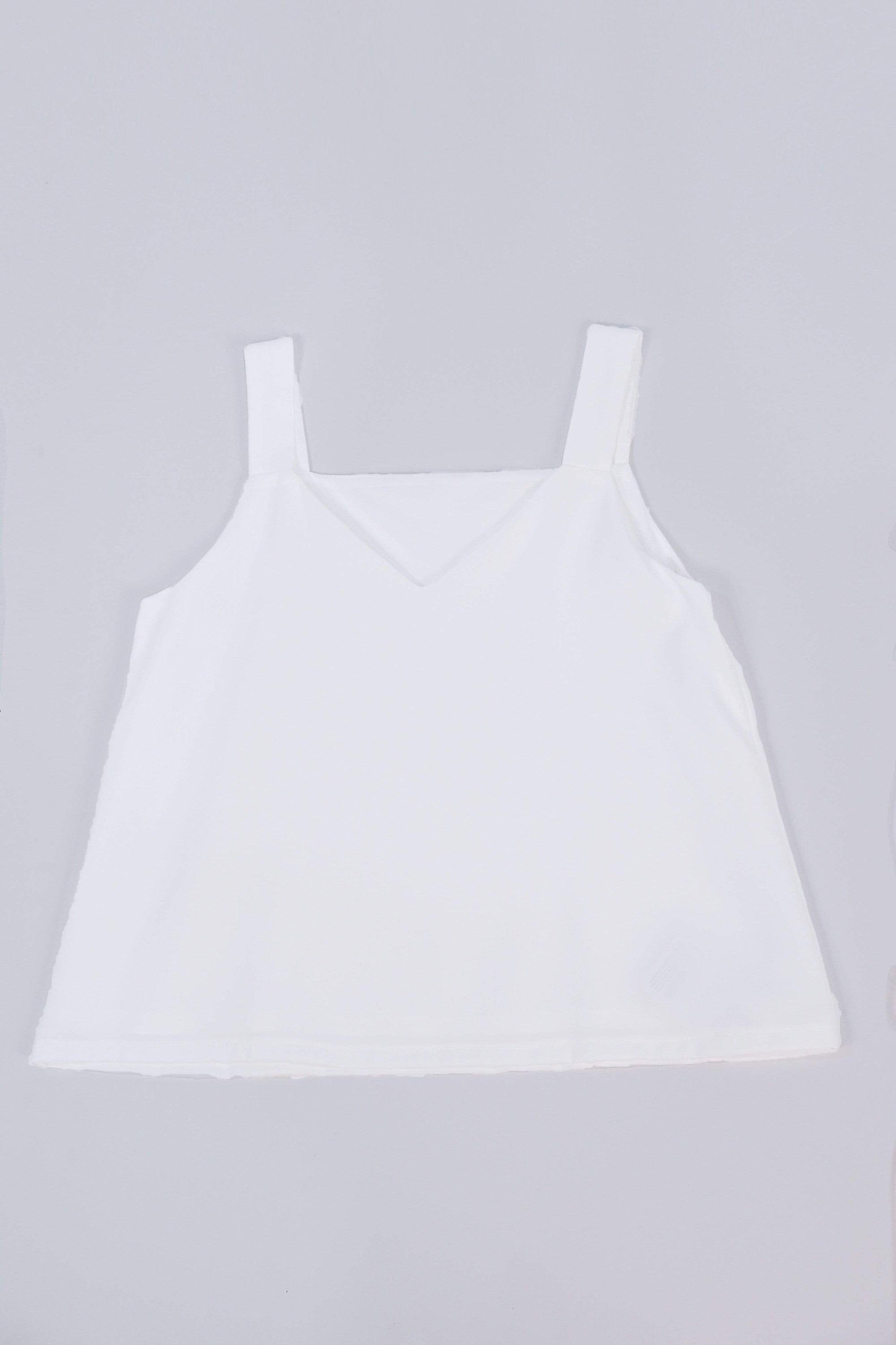 ALYA TWO-WAY THICK STRAP TOP IN WHITE
