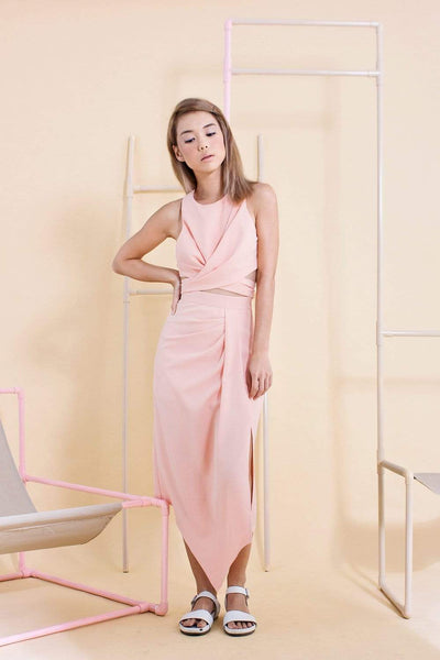 AUDREY PINK TIE TOP - All Would Envy