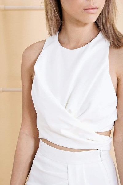 AWE Tops AUDREY WHITE TIE TOP