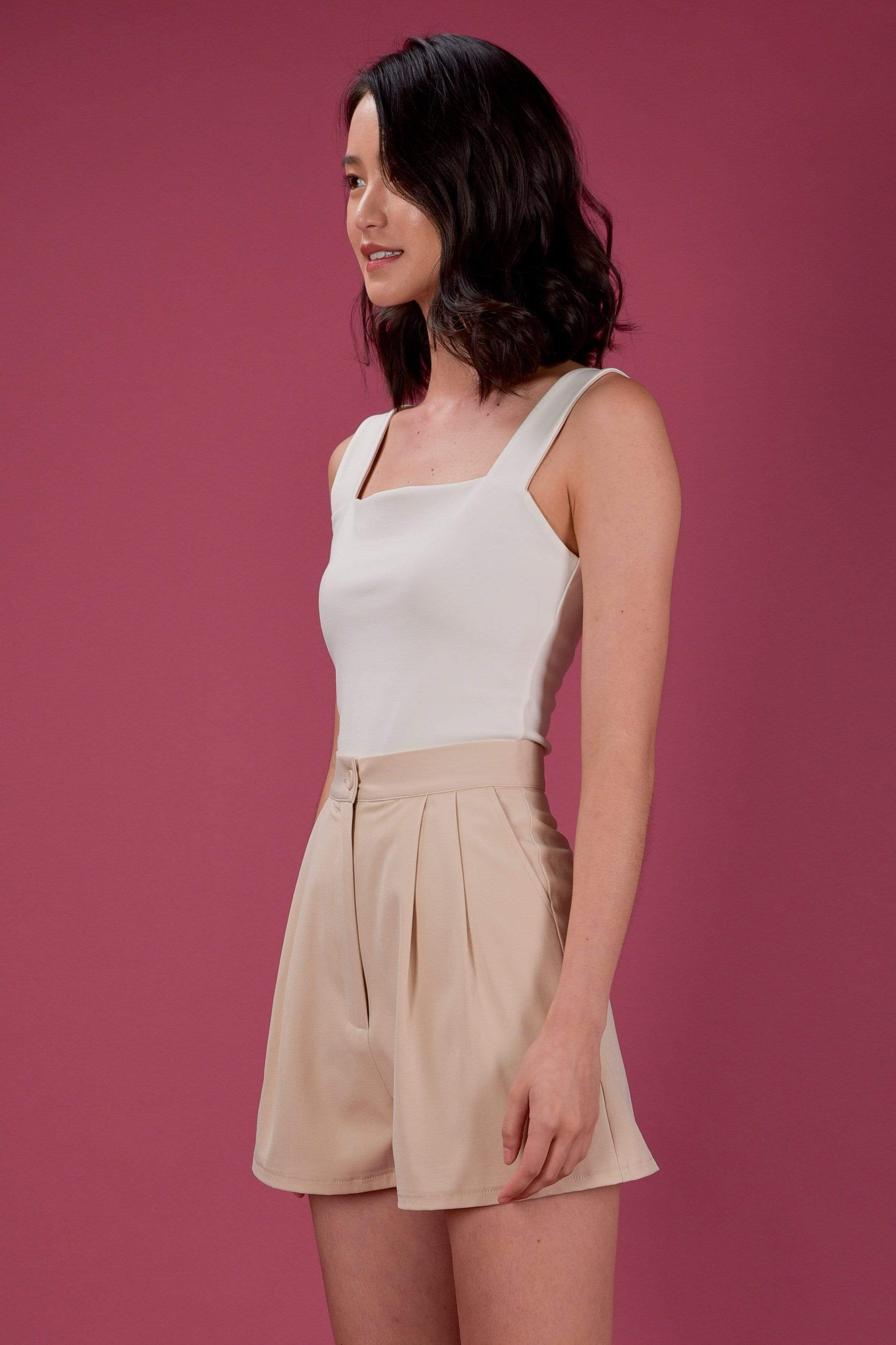 AWE Tops *BACKORDER* EVERYDAY REVERSIBLE TOP IN WHITE/NUDE (XS-M)