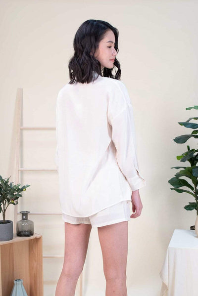 AWE Tops CHER DROP-SHOULDER SLOUCKY SHIRT IN CREAM