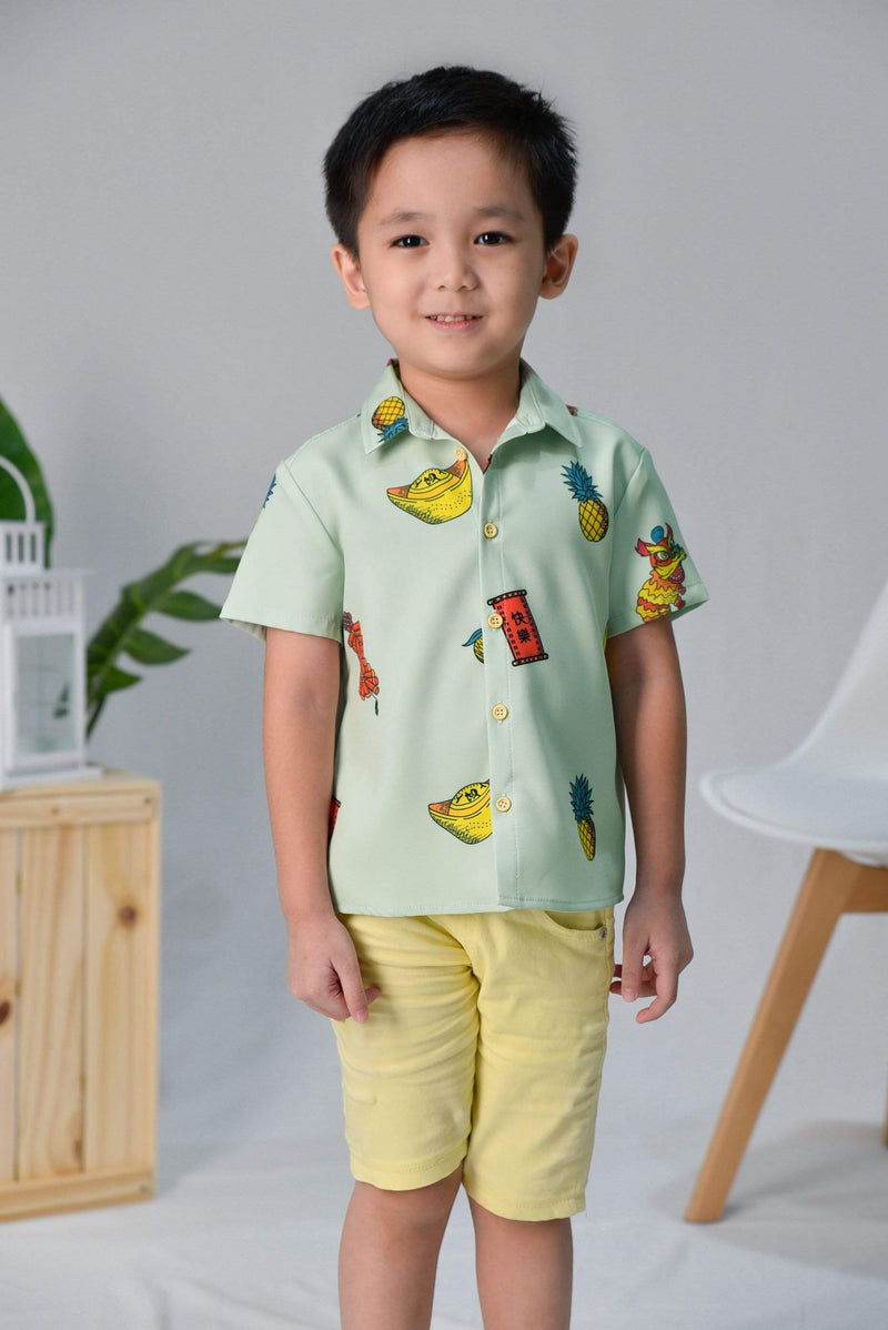 CNY KIDS SHIRT IN PISTACHIO